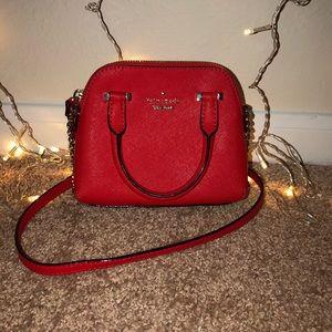 Kate Spade red Mini Maise crossbody purse
